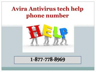 Help@@[1] [877] [778] [8969]@@Avira Antivirus Customer Service Phone Number