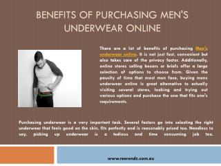 Benefits of Purchasing Men's Underwear Online