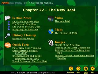 Chapter 22   The New Deal