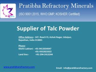 Supplier of Talc Powder