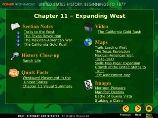 Chapter 11   Expanding West