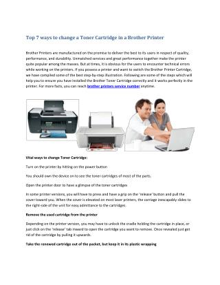 Top 7 ways to change a Toner Cartridge in a Brother Printer