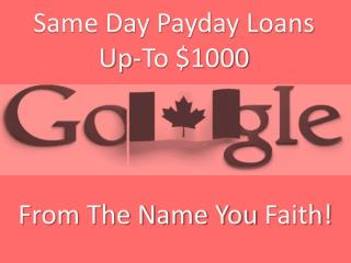 Same Day Loans Canada Get Quick Cash Help For Unexpected Crisis