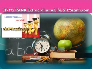 CIS 175 RANK Extraordinary Life/cis175rank.com