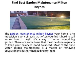 Find best garden maintenance milton keynes