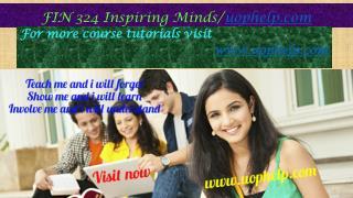 FIN 324 Inspiring Minds/uophelp.com