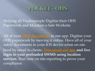 Best Software for OHS Australia - Pocket OHS