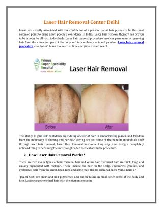 Laser Hair Removal Center Delhi