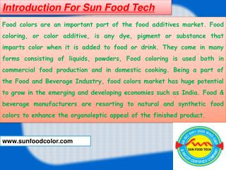 Food Colors Suppliers