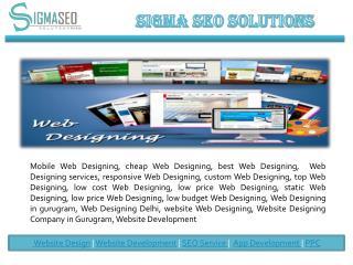 Web Designing and Development in Gurgaon.