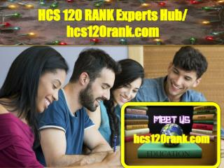 HCS 120 RANK Experts Hub / hcs120rank.com