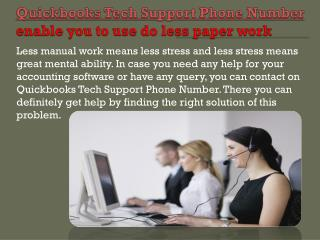 QuickBooks tech support phone number has always been the perfect choice