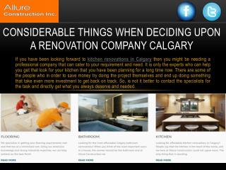 Considerable Things When Deciding Upon A Renovation Company Calgary