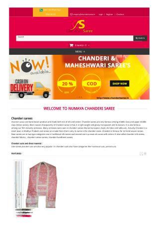 Buy Chanderi Silk and Cotton Sari India