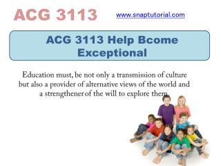 ACG 3113 Help Bcome Exceptional / snaptutorial.com