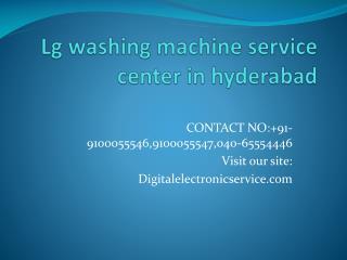 LG Washing Machine Service Center in Hyderabad
