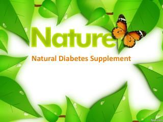 Natural Diabetes Supplement