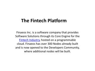 Fintech Platform - Finaeos