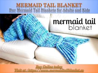 Mermaid Tail Blanket - Buy Mermaid Tail Blankets for Adults and Kids