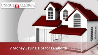 7 Money Saving Tips for Landlords