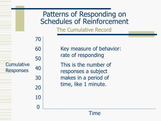 Patterns of Responding on Schedules of Reinforcement