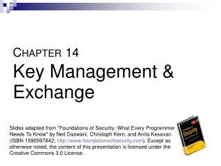 CHAPTER 14  Key Management  Exchange