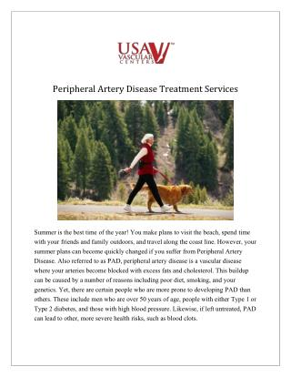 Peripheral Artery Disease treatment in Florida - USA Vascular Centers