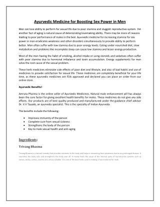 Amruta Pharma Ashwamegh product