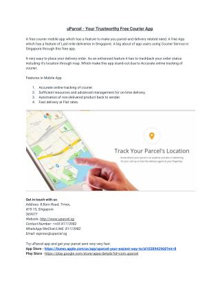 uParcel - Your Trustworthy Free Courier App