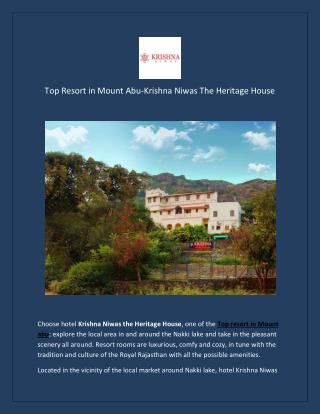 Top Resort in Mount Abu
