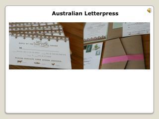 Letterpress Australia