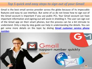 Top 5 quick and easy steps to sign out of your Gmail