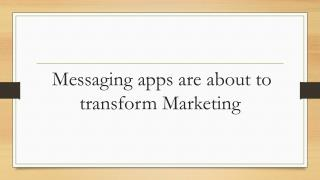 Chat and messaging apps
