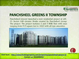 Panchsheel Green2 Greater Noida