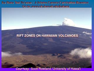 RIFT ZONES ON HAWAIIAN VOLCANOES