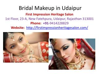 Bridal Makeup in Udaipur