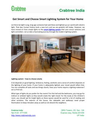 Get Smart and Choose Smart Lighting System for Your Home