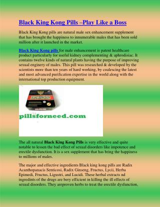 Black King Kong Pills –Play Like aBoss