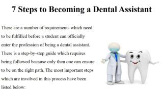 7 Steps to Becoming a Dental Assistant
