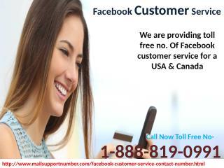 Dial @1-888-819-0991 Facebook Customer Service in USA