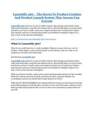 Launchify 360 review- Launchify 360 $27,300 bonus & discount