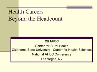 Oklahoma Area Health Education Centers