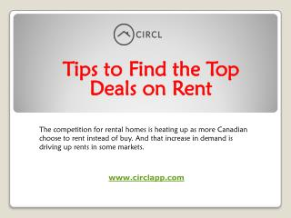 Tips to Find the Top Deals on Rent