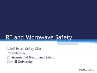 RF and Microwave Safety