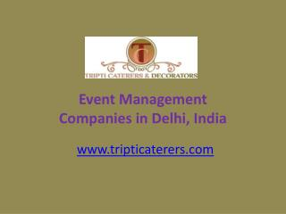 Event Management Companies in Delhi Ncr