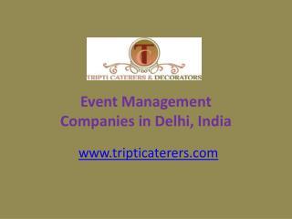 Event Management Companies in Delhi Ncr