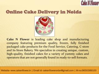 Online Birthday Cake Delivery in Noida – CakenFlower