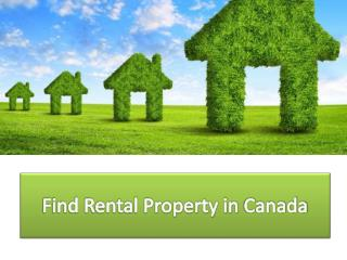Find Rental Property in Canada