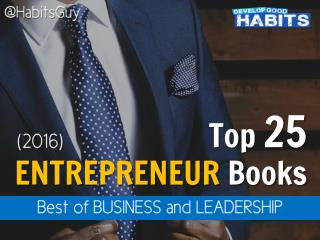 Top 25 Entrepreneur Books to Read in 2016