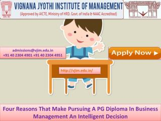 Four Reasons That Make Pursuing A PG Diploma In Business Management An Intelligent Decision